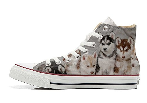Puppies Star Converse Hi Customized All Schuhe personalisierte Husk Schuhe Handwerk R558qAg