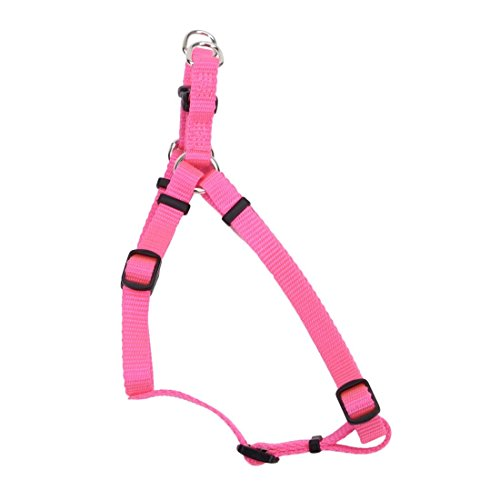 Coastal Pet Products DCP6345NPK Nylon Comfort Wrap Adjustable Dog Harness, 3/8-Inch, Neon Pink