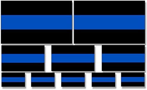 American Vinyl Conjunto: Diferentes tamaños Delgada línea Azul policía Bandera Pegatinas: Amazon.es: Coche y moto