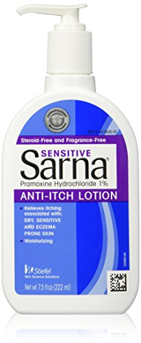 Sarna Sensitive, Anti-Itch Lotion Fragrance Free 7.5 fl oz (222 ml) (Anti Itch Lotion Fragrance)