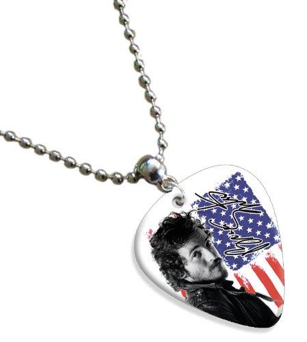 Bruce Springsteen Premium Celluloid Guitarra Pick Necklace (Flag ...