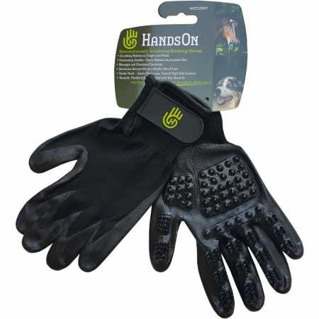 HandsOn® Gloves Horse Dog Cat Livestock Small Pet Grooming Gloves Mitts & Bathing Gloves Mitts (Size-Medium)