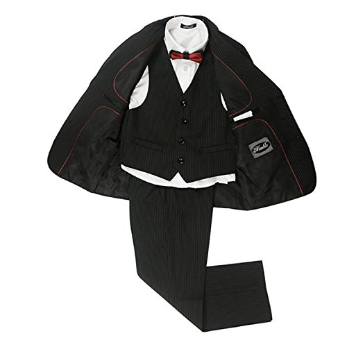 Joddie Haha Blazer Coat Vest Pants Striped Black School Boys Formal Suits Costume Enfant Garcon mariage]()