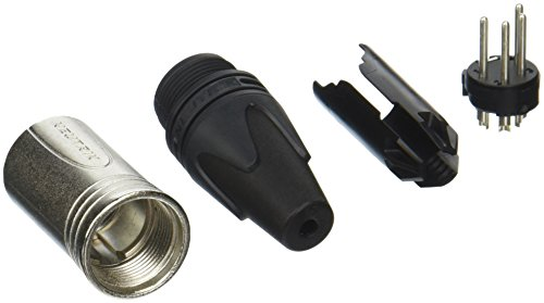 Neutrik NC4MXX 4-Pin Male Cable MT, Chrome Finish