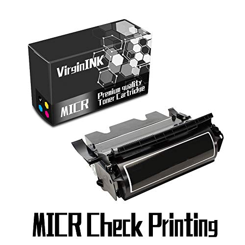 VirginInk T616 Series MICR Check Printing Toner Cartridge Replacement for Lexmark Optra T616, T616n Printers(15,000 Page-Yield, 1 Black)