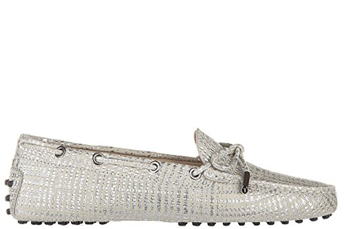 tods-womens-suede-loafers-moccasins-heaven-laccetto-occhielli-silver-us-size-6-xxw0fw05030tw4b200