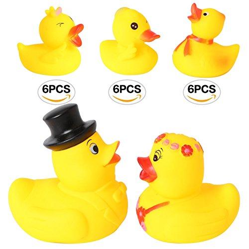 Bride Groom Rubber Duckies - rainbow yuango Set of 20 4.5