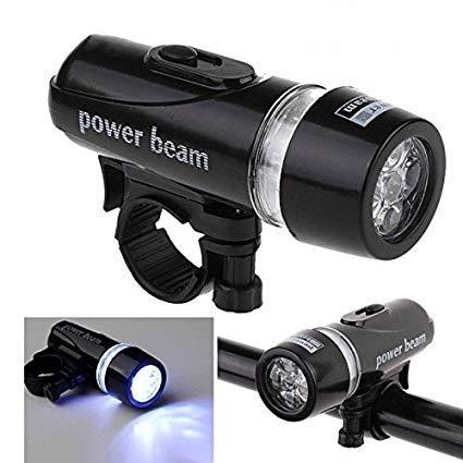 UDee Bicycle 5 LED Power Beam Front Head Light,Black