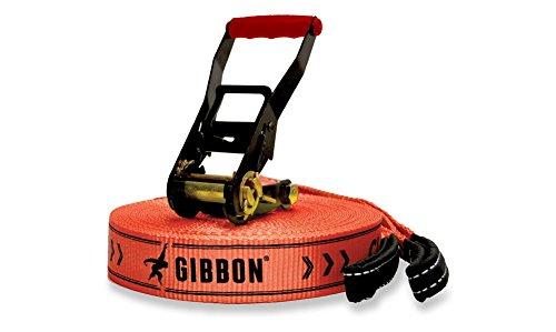 GIBBON Slacklines Classicline Red Edition XL 82-Feet Slackline Set by Gibbon Slacklines