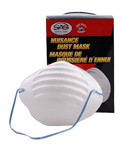 SAS Safety 2985 Non-Toxic Dust Mask 20 Boxes of 50, 1000 Masks (20-Pack) by SAS Safety (Image #1)