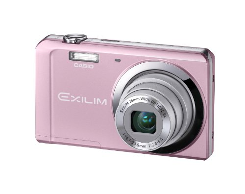 Casio Exilim EX-ZS10 Pink 14 MP Stylish and Slim Digital Camera with 5x Wide-Angle Zoom and 720p HD Video Capture