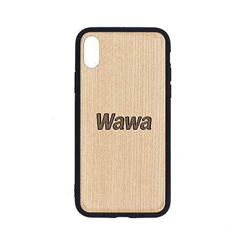 (WAWA - iPhone Xs Case - Maple Premium Slim & Lightweight Traveler Wooden Protective Phone Case - Unique, Stylish & Eco-Friendly - Designed for iPhone Xs)