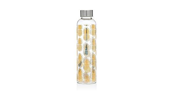 Amazon.com: Godinger vidrio Piña Botella de agua, talla ...
