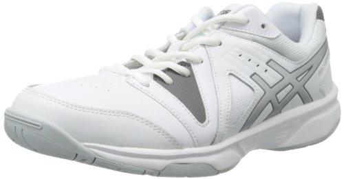 Men's Gel-Game Point Tennis Shoe,White/Charcoal/Silver,7 M