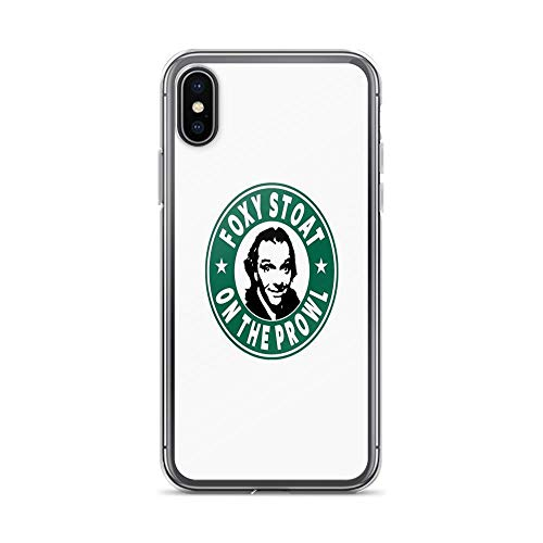 Cup Adrian (iPhone X Case iPhone Xs Case Cases Clear Anti-Scratch Foxy Stoat On The Prowl Cover Case for iPhone X/iPhone Xs, Crystal Clear)