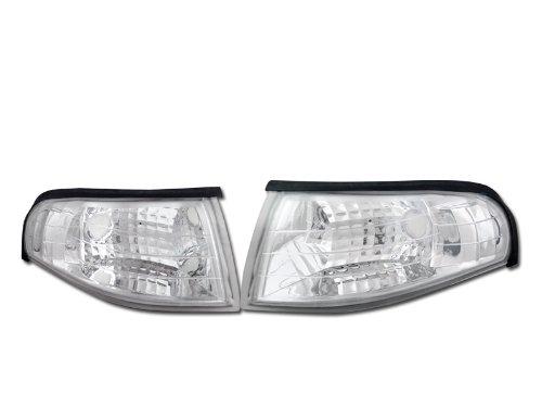 - CHROME CLEAR LENS SIGNAL PARKING CORNER LIGHTS LAMPS K2 94-98 FORD MUSTANG V6 GT