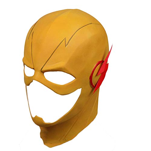 Trippy Lights The Reverse Flash Yellow Halloween Latex Teen Adult Mask -