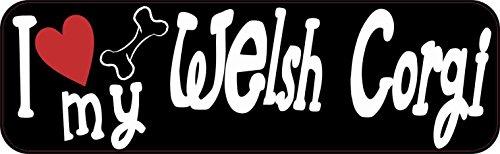 10x3 I Love My Welsh Corgi Bumper Sticker Vinyl Window Dog Decal Stickers Decals