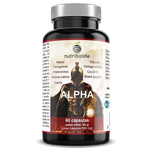 Alpha - Fuerza + Energía + Masa Muscular Suplemento Deportivo con Fenogreco Ginkgo Biloba Tribulus Terrestris Maca CoQ10 Piperina Avena Sativa a buen precio