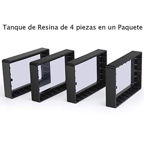 ELEGOO 4 PCS Plástico Tanques de Resina para Impresora 3D ELEGOO ...
