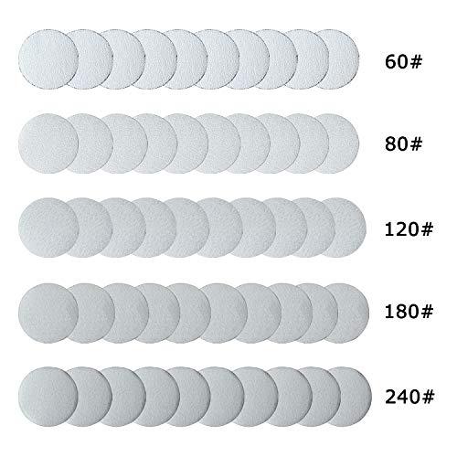 Professional Orbital Sander 5inch Sanding Discs 50 Pieces Sanderpaper Hook and Loop for Orbital Sander from ZHONG AN