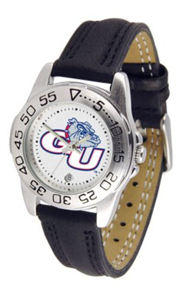 - NCAA Gonzaga Bulldogs Ladies Game Day Sports Watch with Leather Band