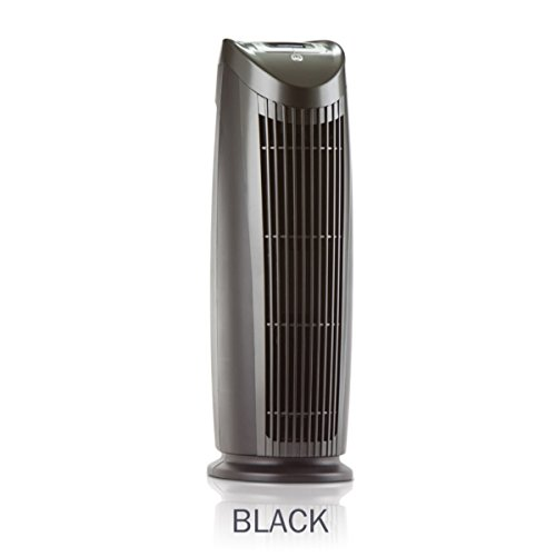 Alen T500 Tower Air Purifier with HEPA-Silver to Remove Allergies, Mold & Bacteria in Black (Black, Silver, 1-Pack)