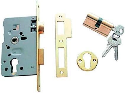 Tesa Assa Abloy 40105PRHN Cerradura de embutir, Niquelado, Set de 4 Piezas: Amazon.es: Bricolaje y herramientas