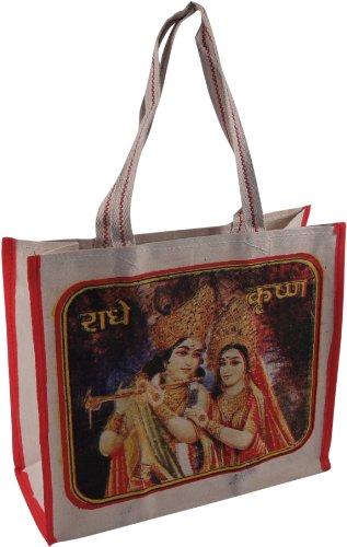 Guru-negozio Tasca Bollywood, Uomini / Donne, Multi-colore, Cotone, Formato: Un Formato, 35x38x15 Cm, Shopper, Sacchetti Di Stoffa, Shopping Bag Hindi Pop