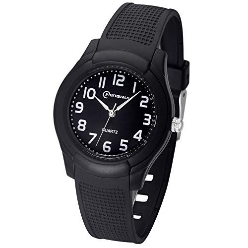 - Kids Watch,Girls Boys Analog Waterproof Learning Time Wrist Watch Easy to Read Time WristWatches for Kids as Gift (Black)