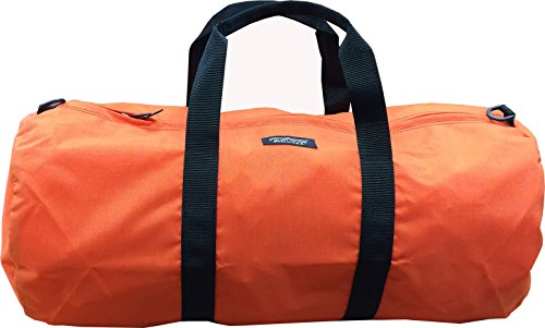 Fire Force Cordura Deluxe Duffel Bag Made in USA (Small 24x12, Orange)