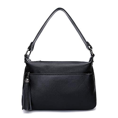 Sac Sys à Woman à Lady main violet à sac Leather Noir main kcd designer à de main sac sac main If4q1