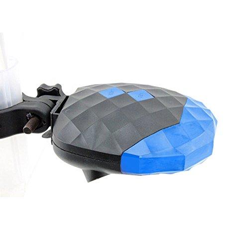 YYGIFT® Bicycle Cycling Laser LED Tail Light Mountain Bike Back Safety Warning Alarm Rear Light Laser Lane 5 LEDs-Blue