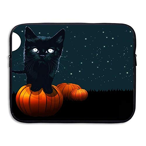 ZOZGETU Laptop Bag Laptop Sve Case Protective Bag Halloween Cat Printed Ultrabook Briefcase Sve Bags Cover for 13-15 Inch Business Messenger Briefcases for Men and Women Fits Computer, Tablet]()