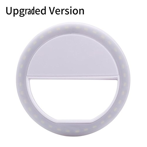 Besde Selfie Ring Light Flash LED Camera Phone Photography Enhance Photo For Smartphone iPhone Samsung (White, - Dress Bubble Abs