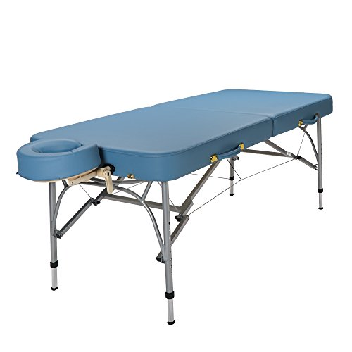 SierraComfort Sports Therapy Portable Massage Table, Sky Blue