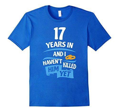 Mens 17 Years Anniversary Gift Idea for Her - 17th Wedding Small Royal Blue