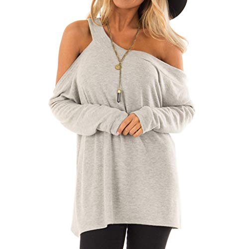 Casual T-Shirt for Womens Cold Shoulder Short Long Sleeve Sleeveless Knot Front Tunic Top LIM&Shop Blouse (Dvd Trees Lounge)