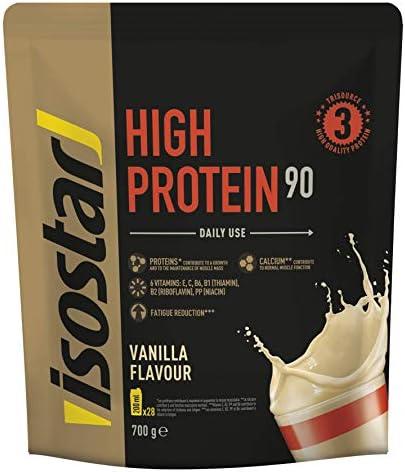 Isostar High Protein 90 - proteína en polvo de alta calidad - proteína en polvo con aminoácidos y calcio para un desarrollo muscular efectivo - ...