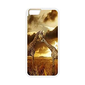 Yo-Lin case FXYL254495Giraffe and sunset protective case cover For Apple Iphone 6 Plus 5.5 inch screen Cases