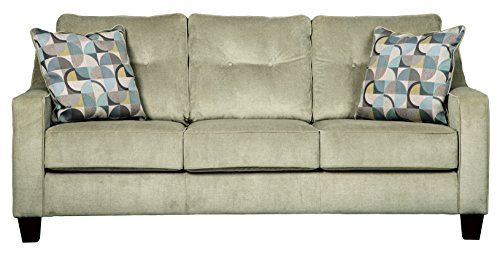 (Benchcraft - Bizzy Contemporary Upholstered Sofa Sleeper - Queen Size Mattress Included - Meadow)
