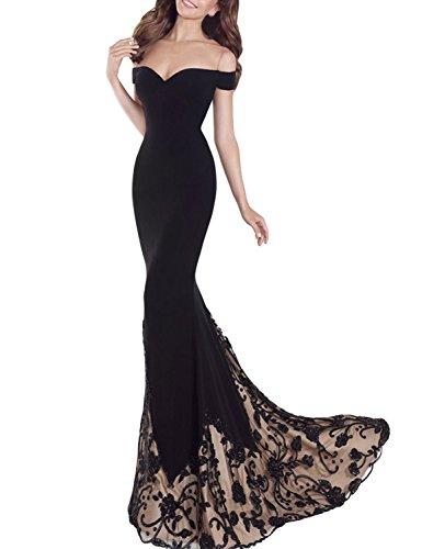 long black lycra dress - 9