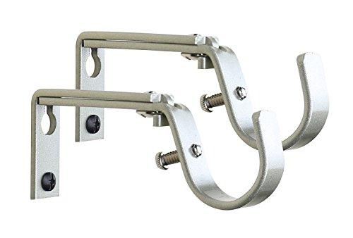 new meriville set of 2 curtain drapery rod bracket for 1 1 4 inch rod adjustable 689269741437 ebay. Black Bedroom Furniture Sets. Home Design Ideas