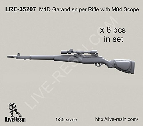 Live Resin 1:35 M1D Garand Sniper Rifle with M84 Scope for sale  Delivered anywhere in USA
