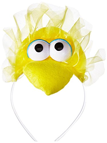 Disguise Women's Sesame Street Big Bird Adult Headband Costume Accessory, Yellow One Size ()