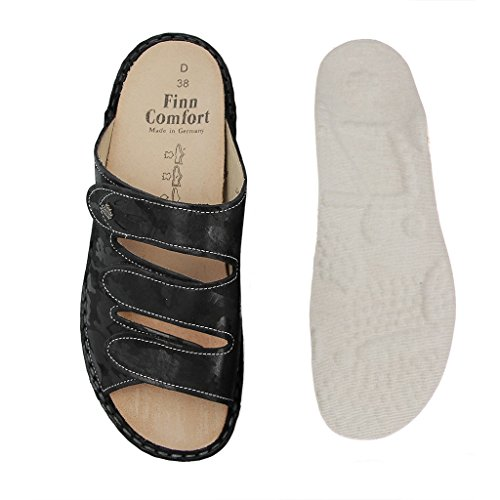FINN COMFORT 02554 Mujer Zuecos&sandalias - Zapatos en tallas especiales Negro - negro