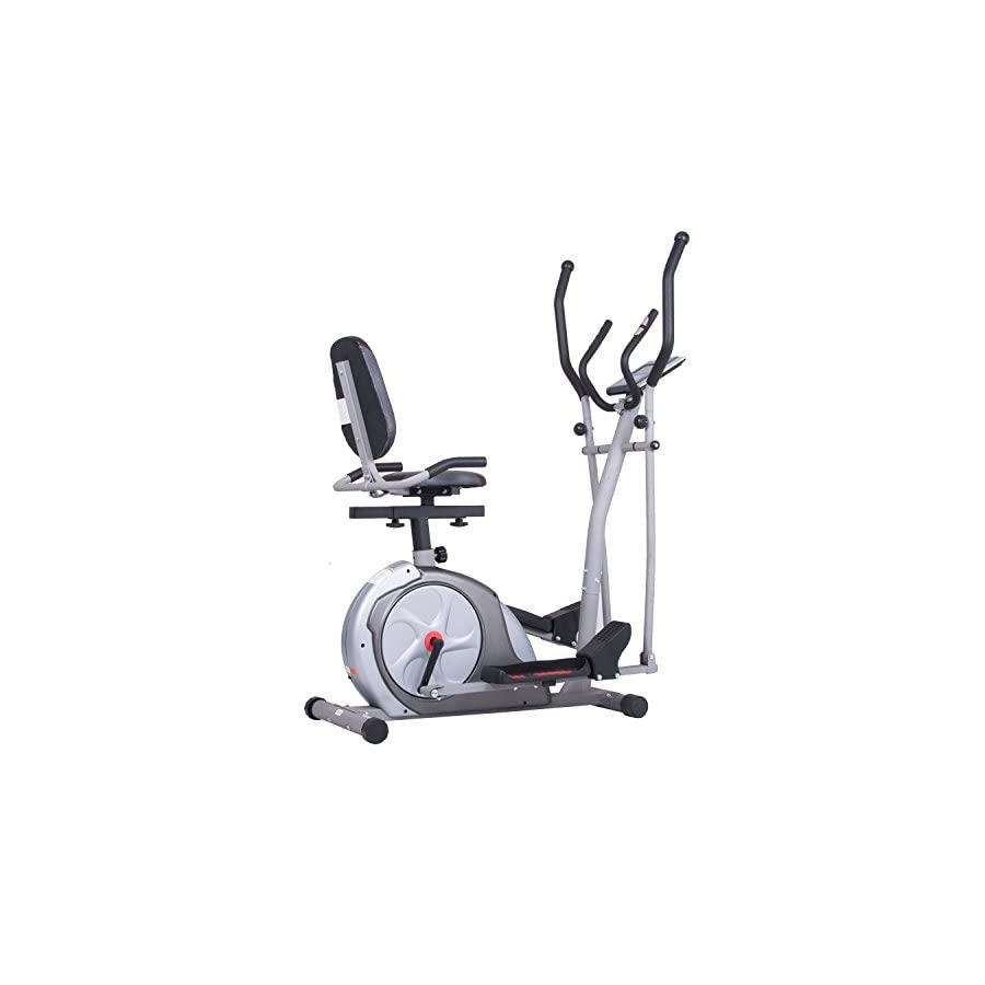 Body Rider 3 in 1 Trio Trainer/Elliptical, Upright Stationary, and Recumbent Exercise Bike ALL IN ONE Space Saving Machine BRT3980