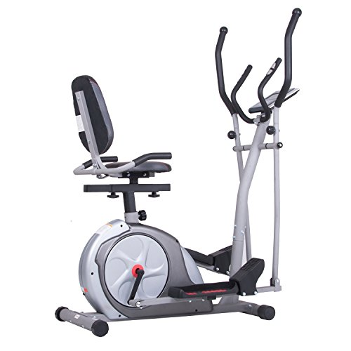 Black Friday Fitness Cyber Monday PROMO! Body Rider 3-in-1 Trio-Trainer / Elliptical, Upright Stationary, and Recumbent Exercise Bike ALL IN ONE Space Saving Machine
