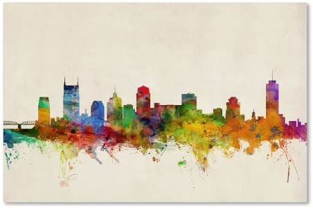 Nashville Watercolor Skyline