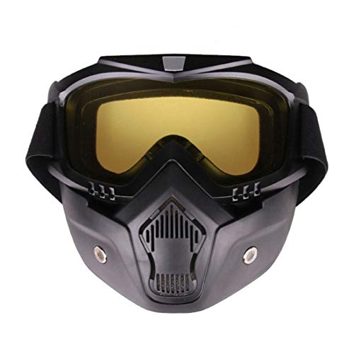 Freahap Paintball Mask Goggle Mask Antifog Lens AntiUV with Vent Holes Yellow